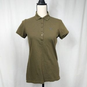 Burberry Brit Women's Olive Green Polo Shirt M